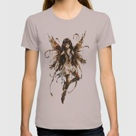 Fairy Womens Fitted Tee Cinder SMALL