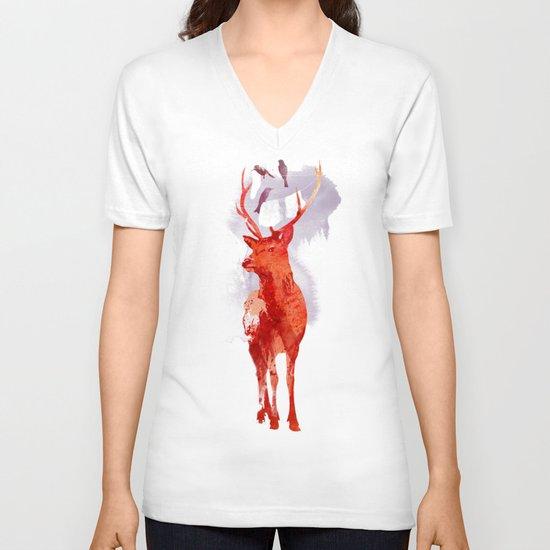 Useless Deer V-neck T-shirt