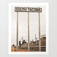 Welcome to South Tacoma Art Print