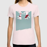 Better Together Womens Fitted Tee Light Pink SMALL