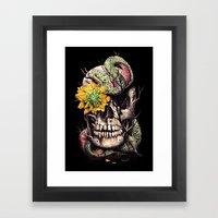 Snake And Skull Framed Art Print
