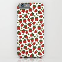 iPhone & iPod Case featuring Strawberry Pattern by Marlene Pixley
