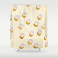 Gold and Pastel Shower Curtain