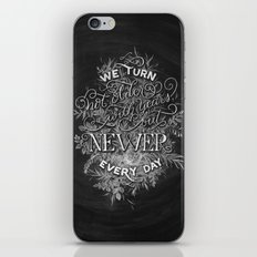 Newer Every Day iPhone & iPod Skin