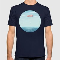 Splashdown Mens Fitted Tee Navy SMALL