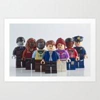 The cast of NBC's Grimm Art Print
