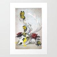 CMYsKull Art Print