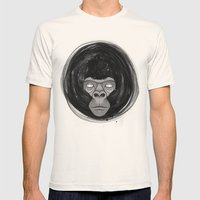 Gorilla  Mens Fitted Tee Natural SMALL
