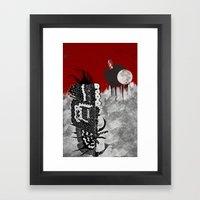 Man On Fire Framed Art Print