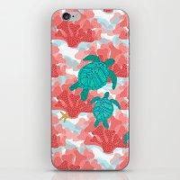 Sea Turtles In The Coral… iPhone & iPod Skin