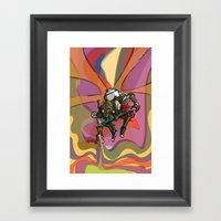 Brushmask Framed Art Print