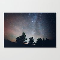 stargazing in the rockies .  Canvas Print