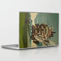 Laptop & iPad Skin featuring Moving Castle by The Art of Danny Haas