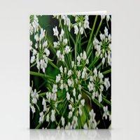 Falling Into Flowers Stationery Cards