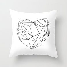 Heart Graphic (black on white) Throw Pillow