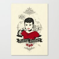 Miss Audrey Hepburn Canvas Print