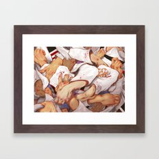 Fight for Grips! Framed Art Print