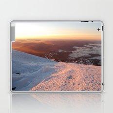 Sunrise above the earth - 14,411 feet Mt. Rainier Laptop & iPad Skin