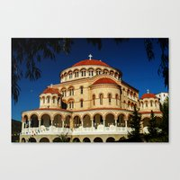 St. Nectarios of Aegina Orthodox Church, Aegina, Greece Canvas Print