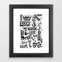 Geek Type Framed Art Print