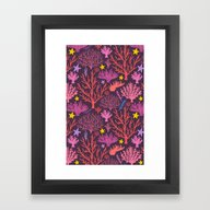 Framed Art Print featuring Coral Pattern by Kostolom3000