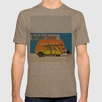 An Endless Summer bummer Mens Fitted Tee Tri-Coffee SMALL