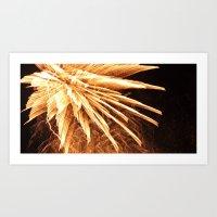 Fire burst Art Print