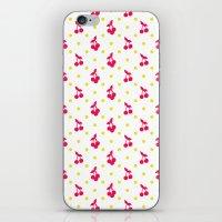Dots And Cherries iPhone & iPod Skin
