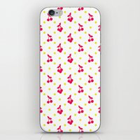 Dots and cherries iPhone & iPod Skin