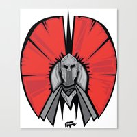 the Red Knight Canvas Print