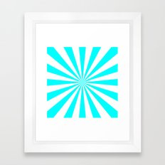 Starburst (Aqua Cyan/White) Framed Art Print
