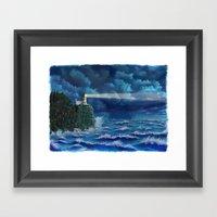 Split Rock Lighthouse, Duluth, MN Framed Art Print