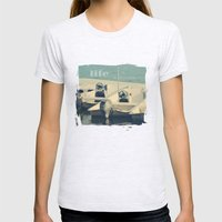 Life is an Adventure Womens Fitted Tee Ash Grey SMALL