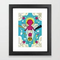 Love & Hate Framed Art Print