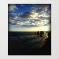 Clouds Circling The Twel… Canvas Print