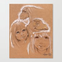 Dark Crystal Characters  Canvas Print