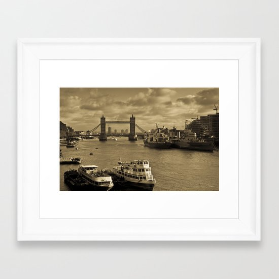 River Thames View Framed Art Print