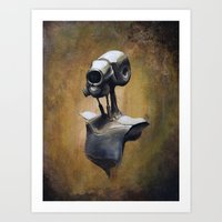 robot portait  Art Print