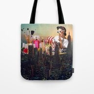 Tote Bag featuring Urban Camouflage by Eugenia Loli