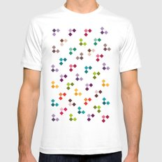 INVASION PATTERN SMALL Mens Fitted Tee White