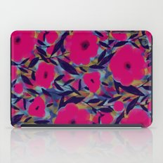 Layered Leaf Floral Fuchsia iPad Case