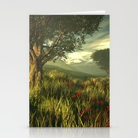 Summer Tree In A Poppy F… Stationery Cards