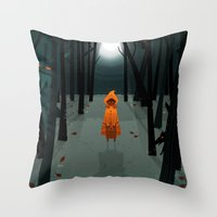 Woods Girl Throw Pillow