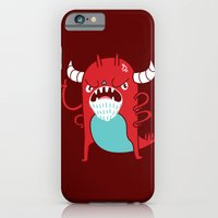 iPhone & iPod Case featuring Monster Nagging by Marco Angeles