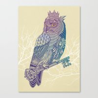 Owl King Color Canvas Print
