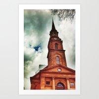 Red Church Art Print