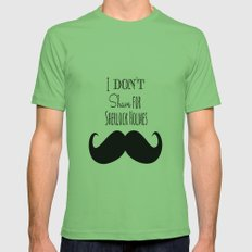 I don't shave for Sherlock Holmes Mens Fitted Tee Grass SMALL