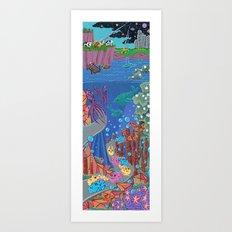 Underwater Parade Art Print