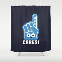 A Pointed Critique Shower Curtain
