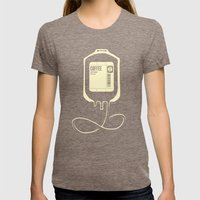 Coffee Transfusion Womens Fitted Tee Tri-Coffee SMALL